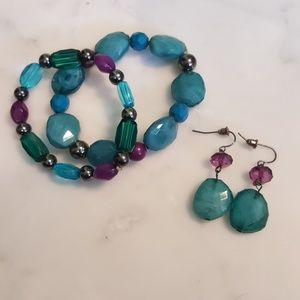 Jewelry - 🎉🔥 Matching Beaded Bracelet and Earring Set